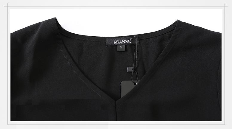 เสื้อแฟชั่นผู้หญิง คอวีแขนบาน เสื้อแฟชั่นผ้าชีฟอง ทรงสวม ใส่กับกางเกงยีนส์ ขาสั้น ขายาว เข้ารูปก็สวยเท่ห์ ใส่ได้ทุกงาน ปาร์ตี้ได้สวยๆ สไตล์เกาหลีจ้า