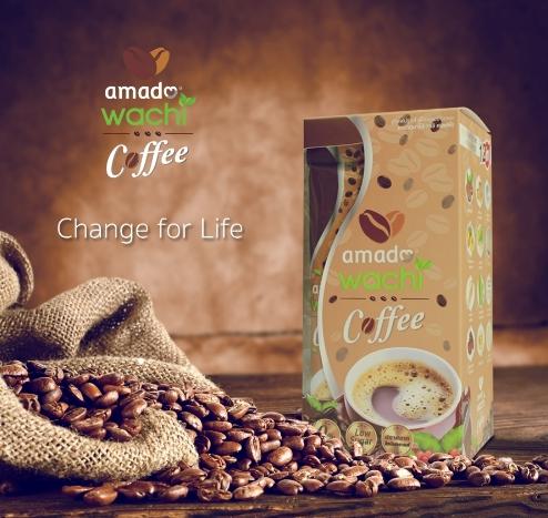 Amado Wachi Coffee กาแฟ อมาโด้ วาชิ บรรจุ 12 ซอง ราคา 500 บาท ส่งฟรี