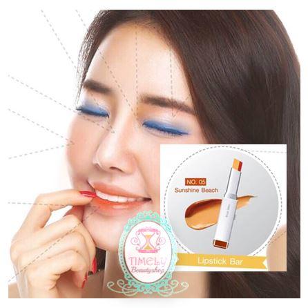 Soul Skin Lipstick Bar สีใหม่ NO.05 โทนส้ม-น้ำตาล Sunshine Beach ลิปสติก 2 โทน เทรนด์ใหม่ล่าสุดจากเกาหลี เทรนด์ใหม่ล่าสุดจากเกาหลี กันแดด กันน้ำ ติดทนนาน 12 ชม. มีบำรุงในตัว ปรับให้ปากที่หมองคล้ำให้นุ่มชุ่มชื่น ให้อมชมพู สุขภาพดี ใช้สีธรรมชาติจากพืชผลไม้อ