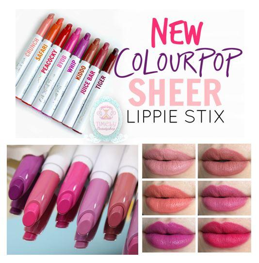 ColourPop Lippie Stix ลิปสติกสีสวย สุดฮิตจากอเมริกา มีทั้งเนื้อแมทแล้วซาติน ผลิตจากส่วนผสมของธรรมชาติ ติดทนนาน4 - 6 ชม. ไม่ทำให้ริมฝีปากแห้ง กลบสีปากมิด สามารถทาลงบนริมฝีปากโดยตรง ได้รูปโครงปากชัดเจน สีสวย พกพาสะดวก ลิปสติกแบบแท่งยาวสีขาวสะอาดตา ส่วนหัวเป