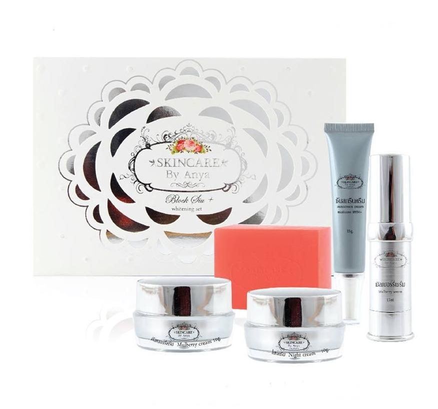 Skincare By Anya Block Siu+ Whitening Set เซทหน้าใสบล็อคสิวพลัส ไวท์เทนนิ่งเซท