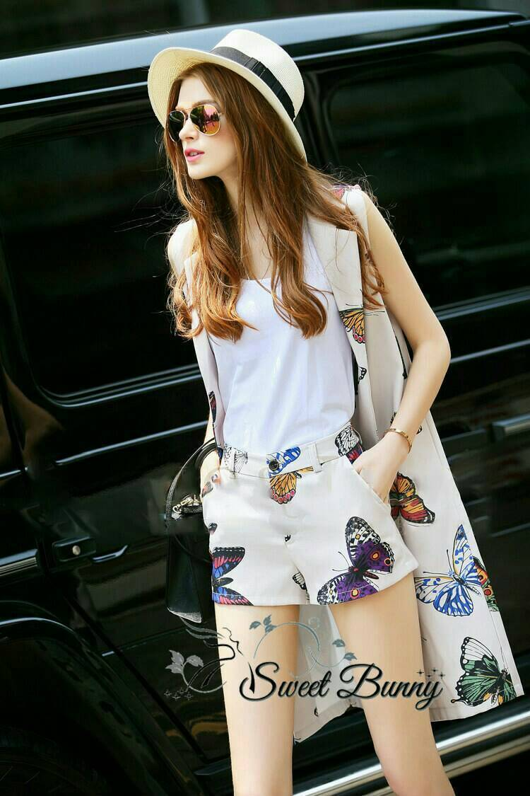 Sweet Bunny Present... Butterfly Breasted sleeveless jacket set