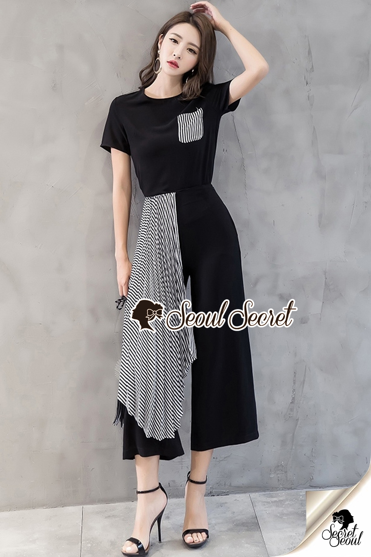 Seoul Secret Say's... Monarchy Stripe Tail Chic Set