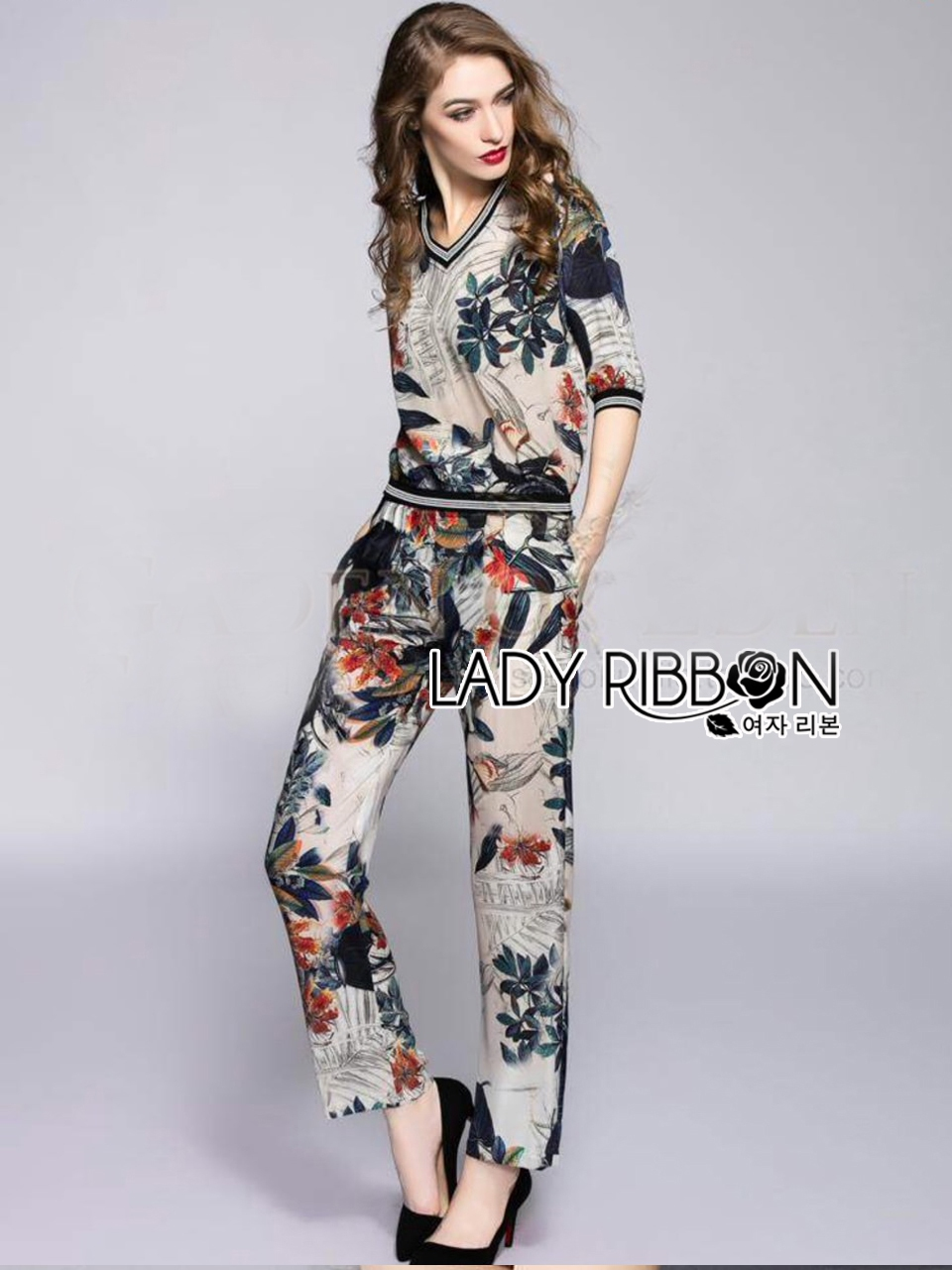 Lady Ribbon's Made Lady Rachel Into the Wild Floral Printed Ensemble Set