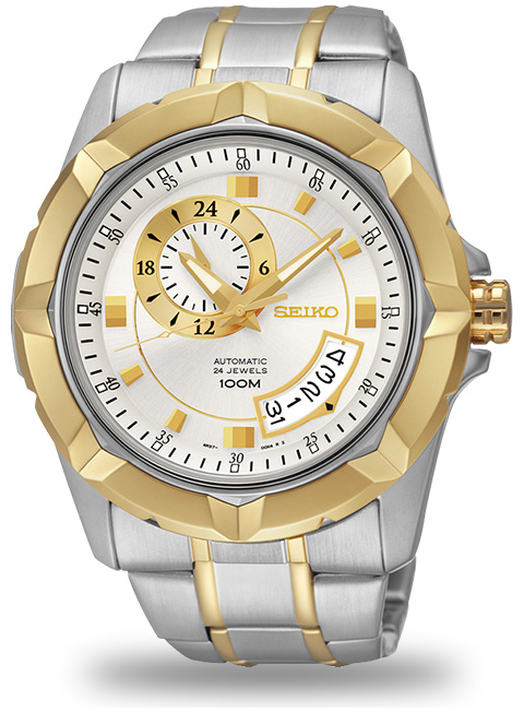 Japan Seiko SSA222K Gold Dial Loard Sports Mens Automatic Watch