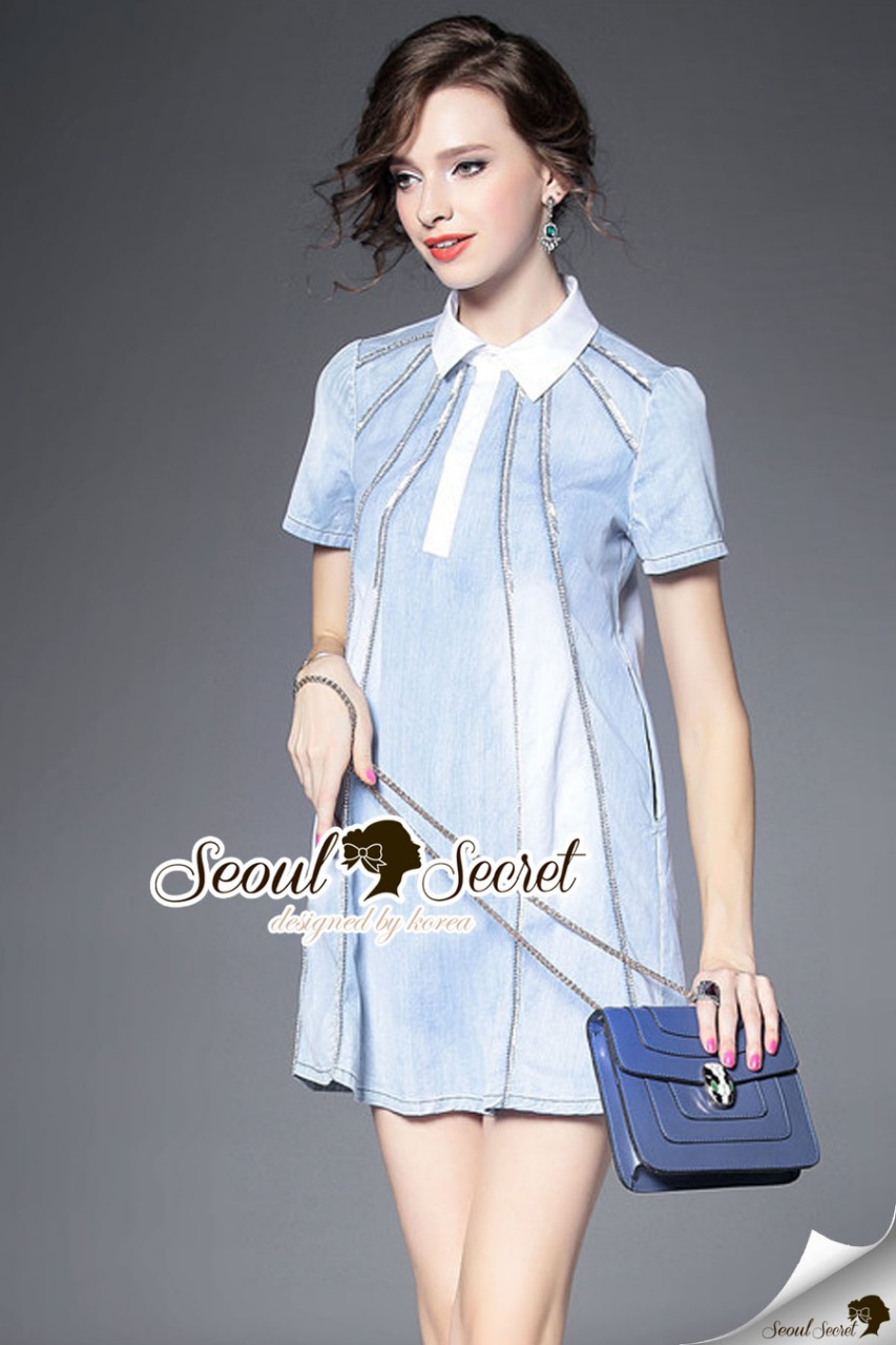 Seoul Secret Say's... Shiny Annly Deim Dress