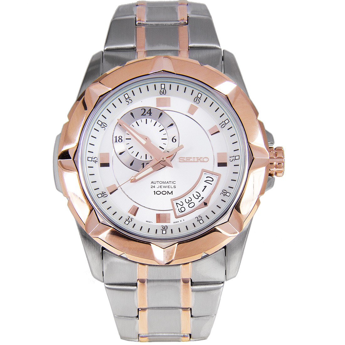 Japan Seiko SSA224K Rose Gold Dial Loard Sports Mens Automatic Watch