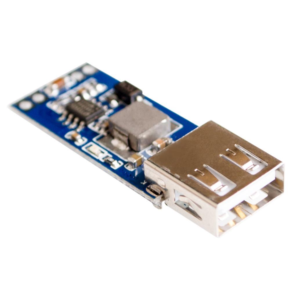 โมดูลแปลไฟ 7.5-28V เป็น 5V 3A USB Charger Module DC Buck step down Converter