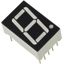 "7 segment 0.56"" Common Cathode ลบร่วม RED 1 หลัก"