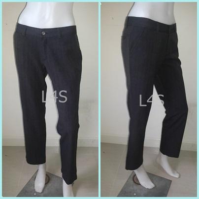 """BNB1007-กางเกงผ้า สีเทาดำ ZEIN """"เอว 30 นิ้ว"""""""