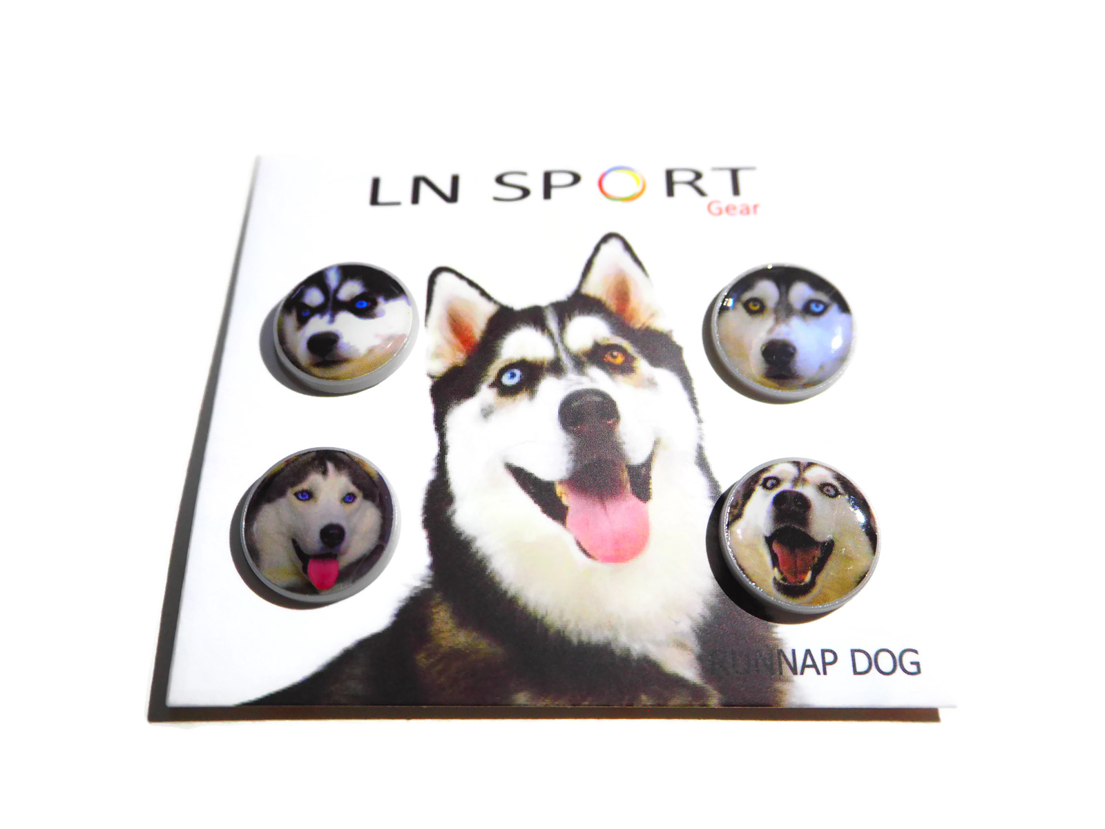 LN Sport ตัวติดเบอร์วิ่ง Runnap (BIB Race Number Holder) ลายสุนัขไซบีเลี่ยน