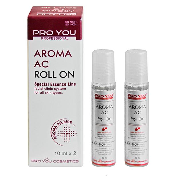Proyou Aroma AC Roll On 10mlx2 (ผลิตภัณ์ปรับสภาพผิวสำหรับผู้ที่มีปัญหาเรื่อง สิว ชนิดลูกกลิ้ง)