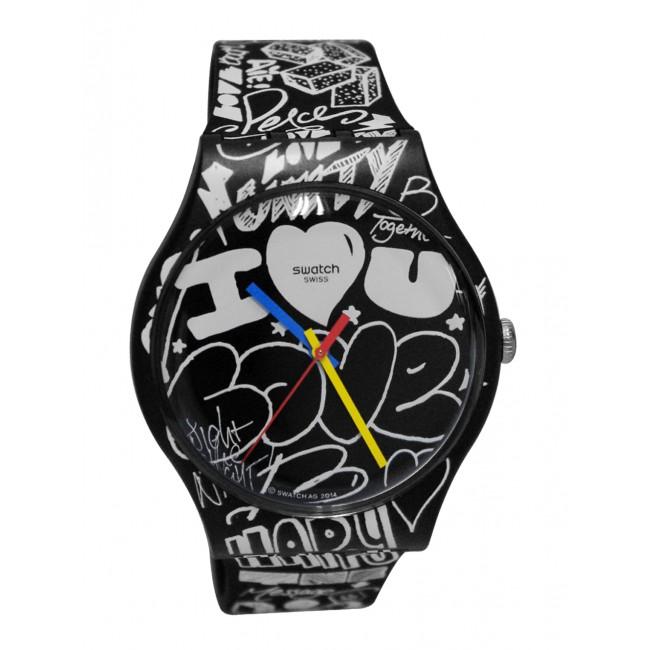 นาฬิกา ชาย-หญิง Swatch รุ่น SUOB125, Love Wall