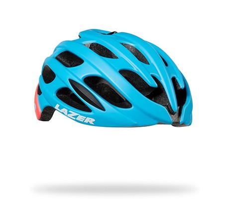 หมวกจักรยาน LAZER Elle สี Matte blue Coral + LED + Aeroshell