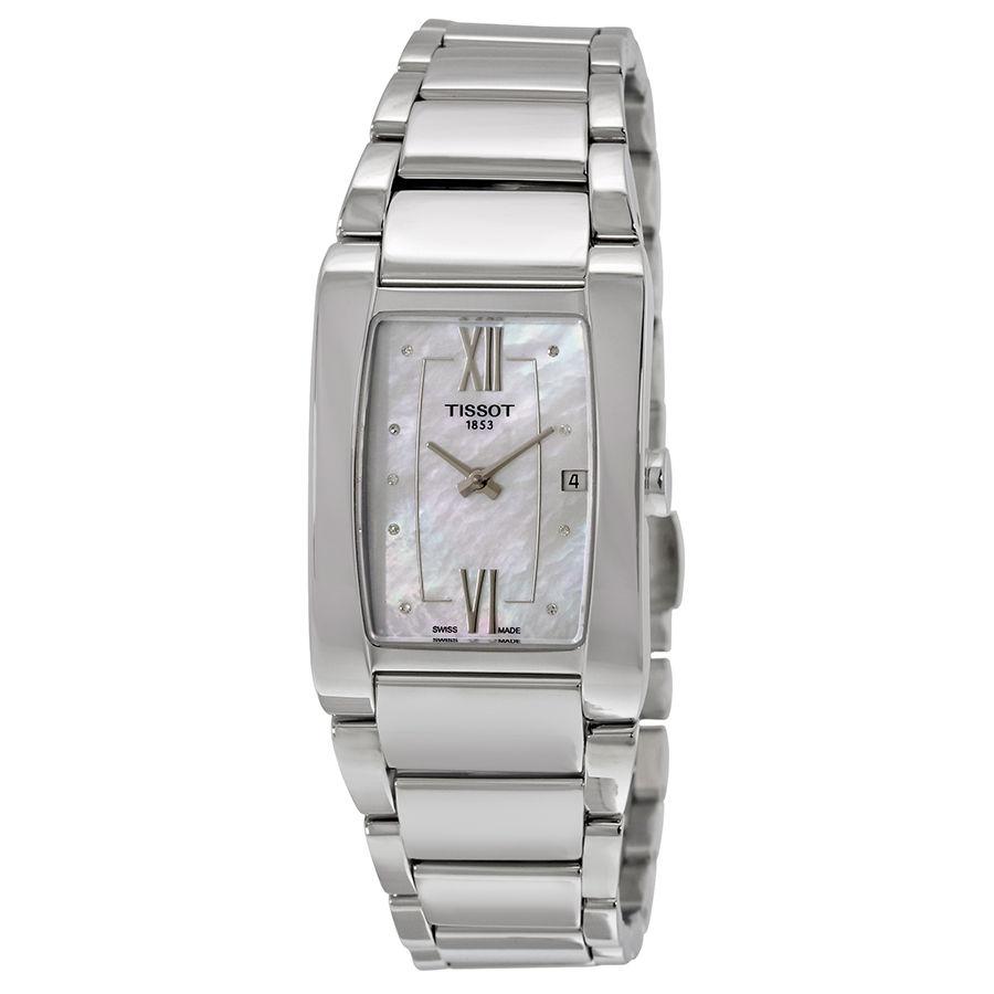 นาฬิกาผู้หญิง Tissot รุ่น T1053091111600, Generosi-T Diamond Accent