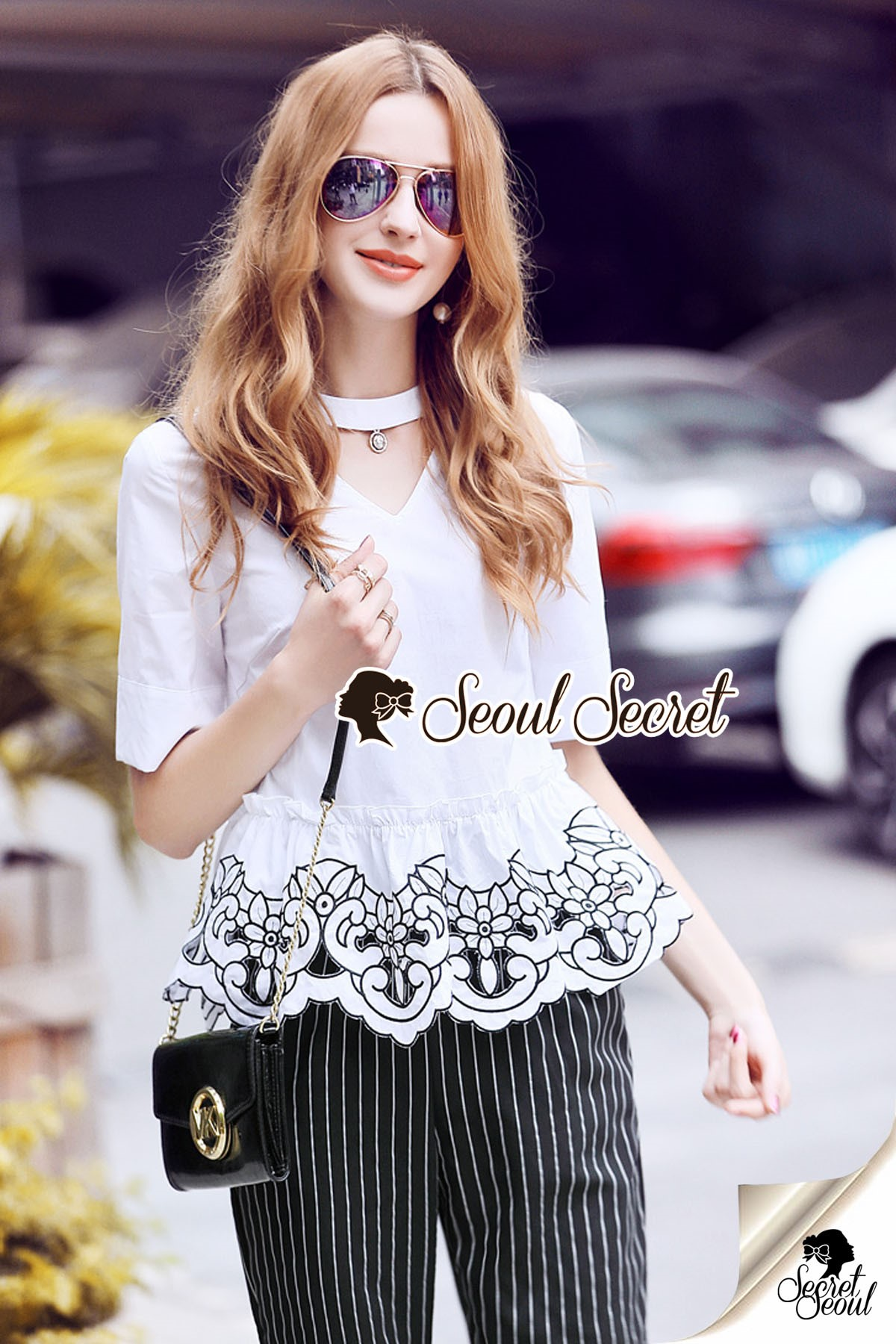 Seoul Secret Say's... Lovely Butterfly Organdy Shirt