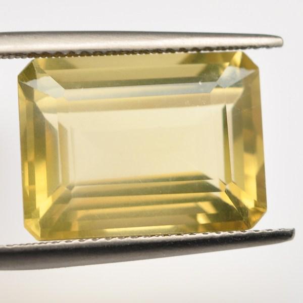 พลอยเลมอนควอตซ์ (Lemon Quartz) พลอยธรรมชาติแท้ น้ำหนัก 11.5 กะรัต
