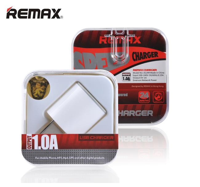 ตัวชาร์จไฟบ้าน REMAX USB 1.0A