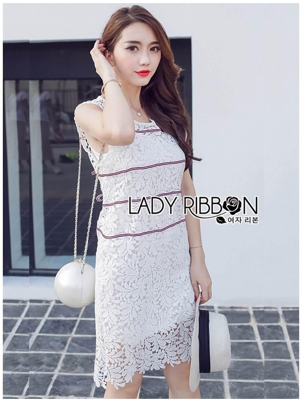 &#x1F380 Lady Ribbon's Made &#x1F380 Lady Kate Sporty Sweet White Lace Dress