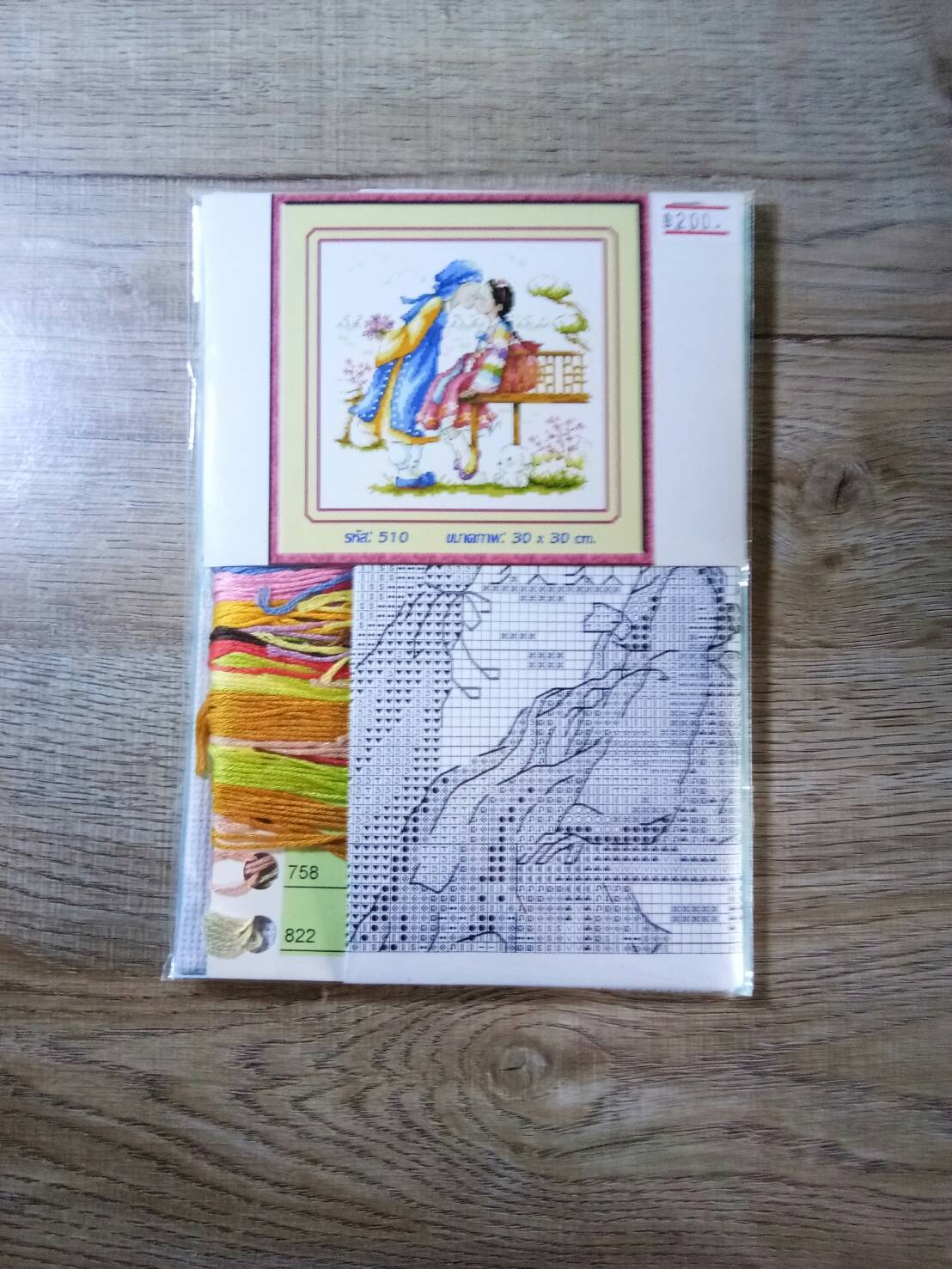 ชุดปักครอสติช ลายการ์ตูน ขนาด 30*30 ซม.ผ้าครอสติช 14 CT ไม่พิมพ์ลายปัก ไหมคอตตอน สี+ผังลาย+เข็ม (ส่งฟรี)