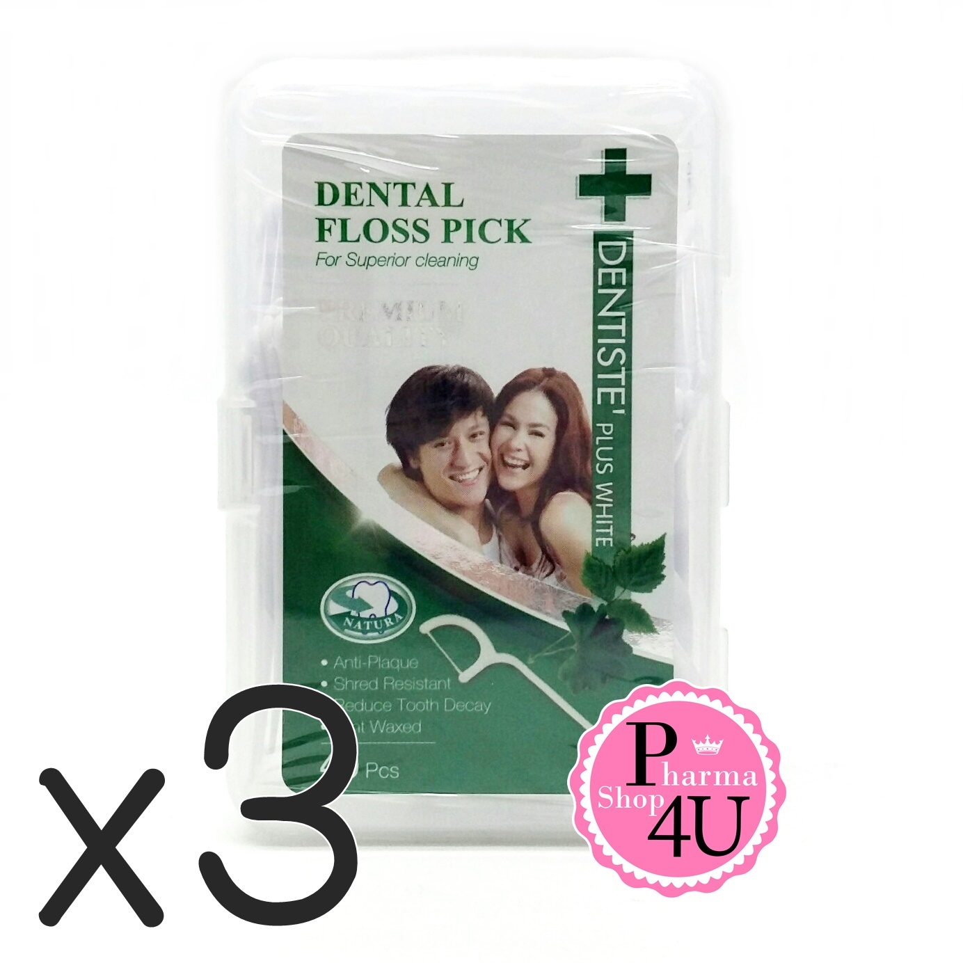 (ซื้อ3 ราคาพิเศษ) DENTISTE DENTAL FLOSS PICK 40 ชิ้น ไหมขัดฟันมีด้ามจับ รสมิ้น DENTISTE DENTAL FLOSS PICK 40 ชิ้น ไหมขัดฟันมีด้ามจับ รสมิ้น