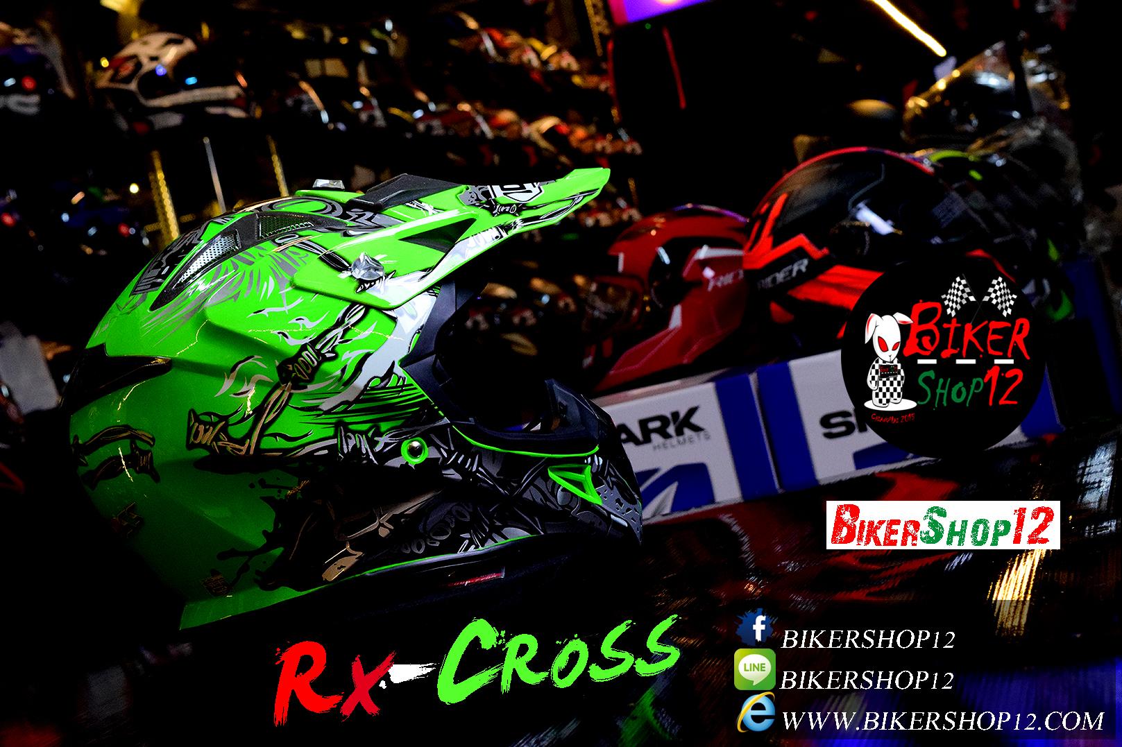 หมวกกันน็อควิบาก Index รุ่น Rx-Cross สีQ-84/GREEN สำเนา