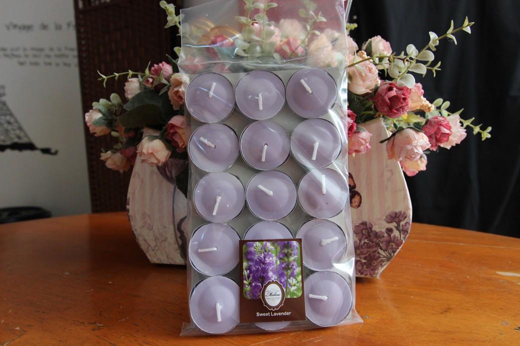 เทียนหอมทีไลท์ [Tealight Candle] กลิ่น ลาเวนเดอร์ [Lavender] 15 ชิ้น ต่อแพ็ค