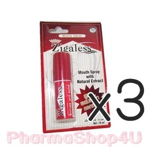 (ซื้อ3 ราคาพิเศษ) Zigaless Mouth Spray 15ml ซิกกาเลส สเปรย์ดับกลิ่นปาก และลดความอยากบุหรี่ ด้วยสารสกัดจากหญ้าดอกขาว