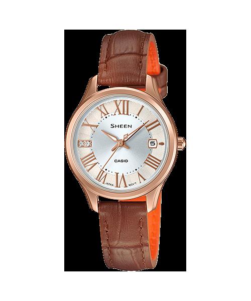 นาฬิกา คาสิโอ Casio SHEEN 3-HAND ANALOG รุ่น SHE-4050PGL-7A ของแท้ รับประกัน1ปี