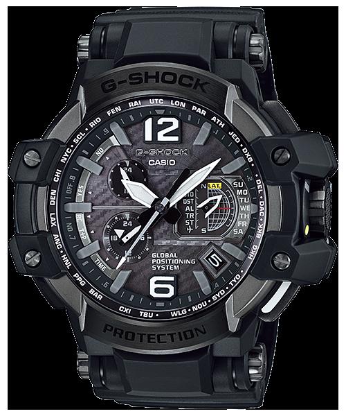 นาฬิกา Casio G-SHOCK นักบิน GRAVITYMASTER GPS Hybrid Wave Captor รุ่น GPW-1000-1B ของแท้ รับประกัน1ปี