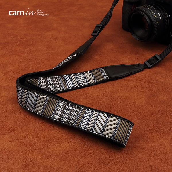สายคล้องกล้องลายถัก ลวดลายแห่งสีเทา cam-in Mix Grey