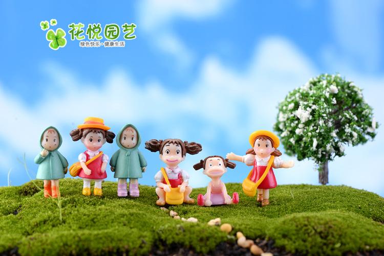 (1 ชุด/6 ตัว) ตุ๊กตาจิ๋ว ตุ๊กตาตกแต่งสวนจิ๋ว