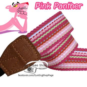 สายคล้องกล้อง ชมพู Pink Panther