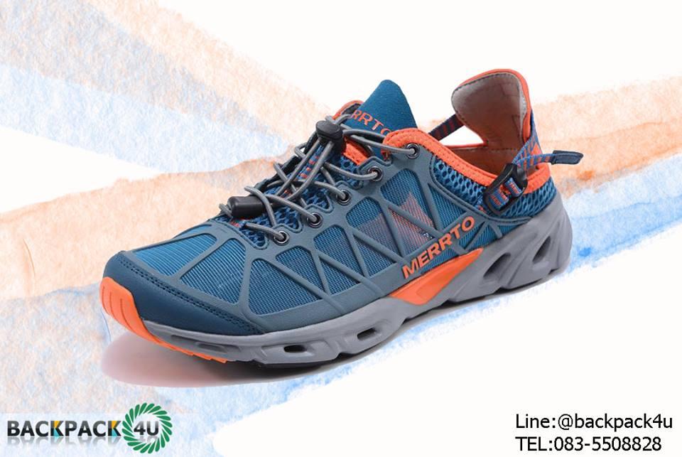 รองเท้า Merto 7225 สีเขียว-ส้ม
