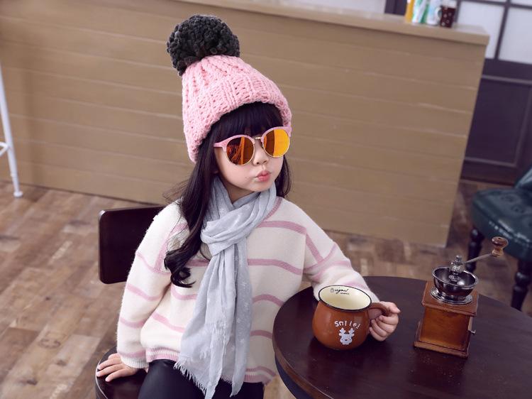 CH105-60 หมวกไหมพรมกันหนาว สำหรับเด็กโต ผู้ใหญ่ใส่ได้ ยืดได้เยอะ