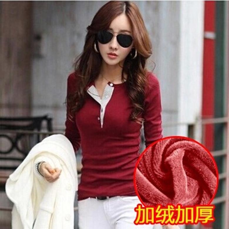Pre-เสื้อไหมพรมแขนยาวสไตล์เกาหลี กระดุมผ่าหนา สีแดง ขาว ดำ ม่วง ดำ เขียว มี size S-XXL
