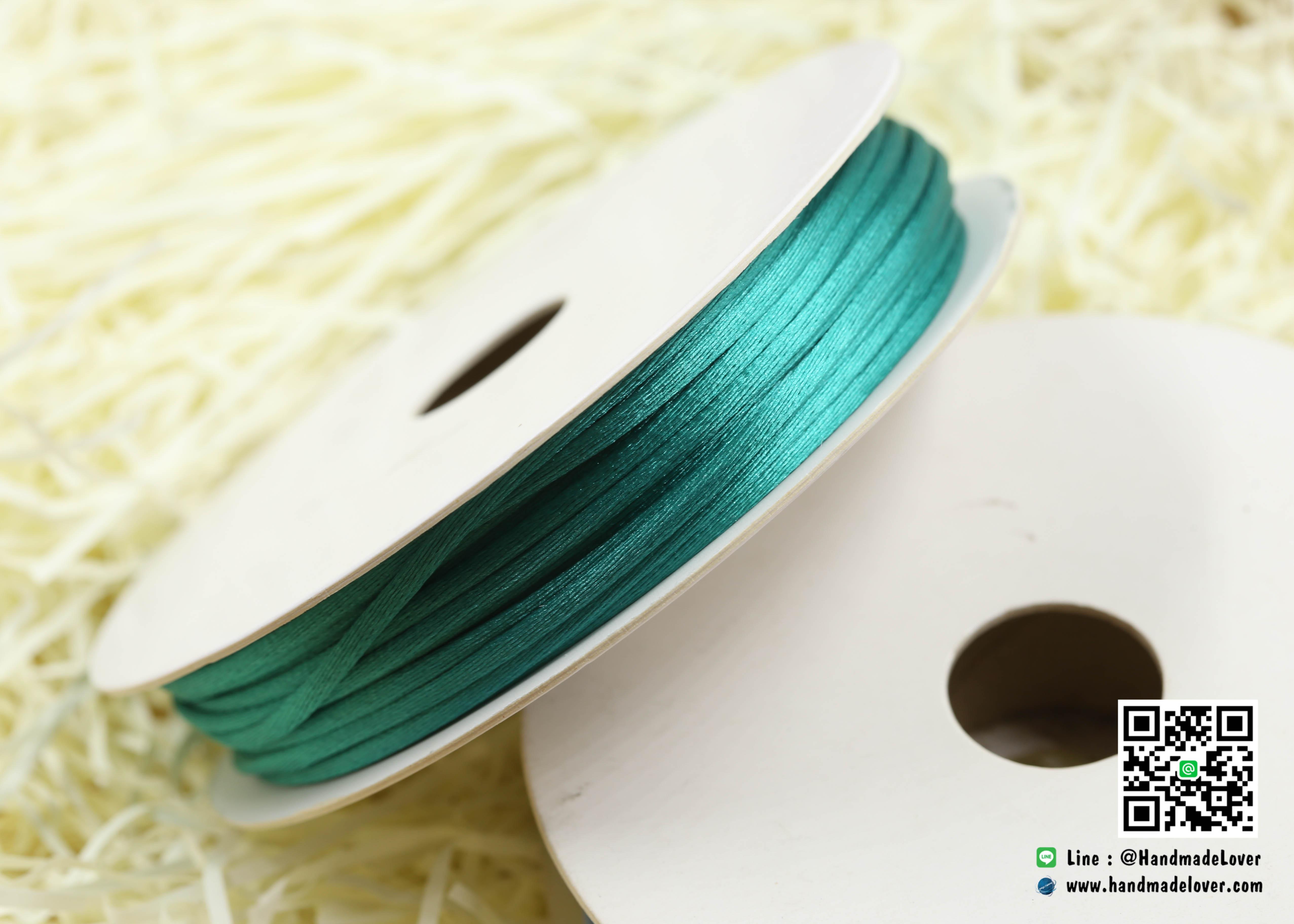 เชือกหางหนู สีเขียว [192] ขนาด 2 มิล [อย่างดี เนื้อนุ่ม]