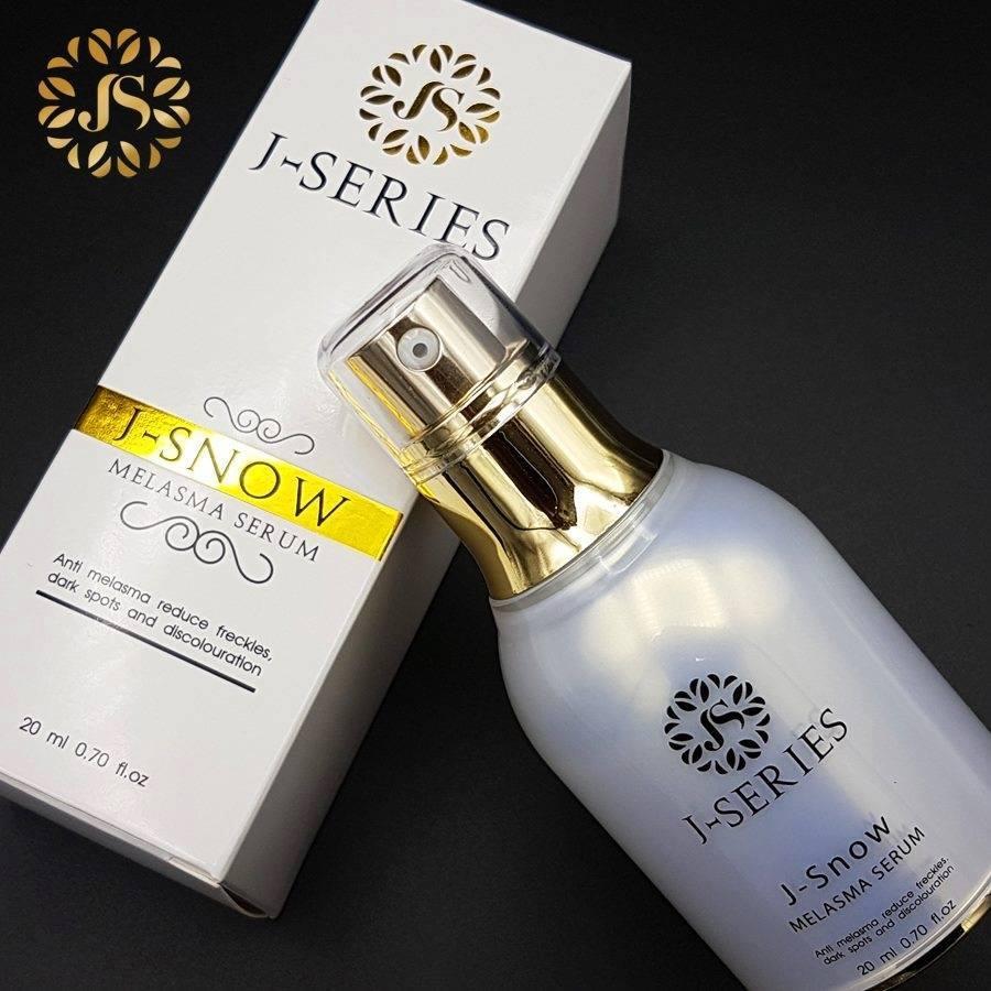 J Snow Serum melasma serum J-Series เซรั่มที่ช่วยแก้ปัญหาฝ้า กระ จุดด่างดำ รอยดำจากสิว ช่วยปรับสีผิวให้กระจ่างใส