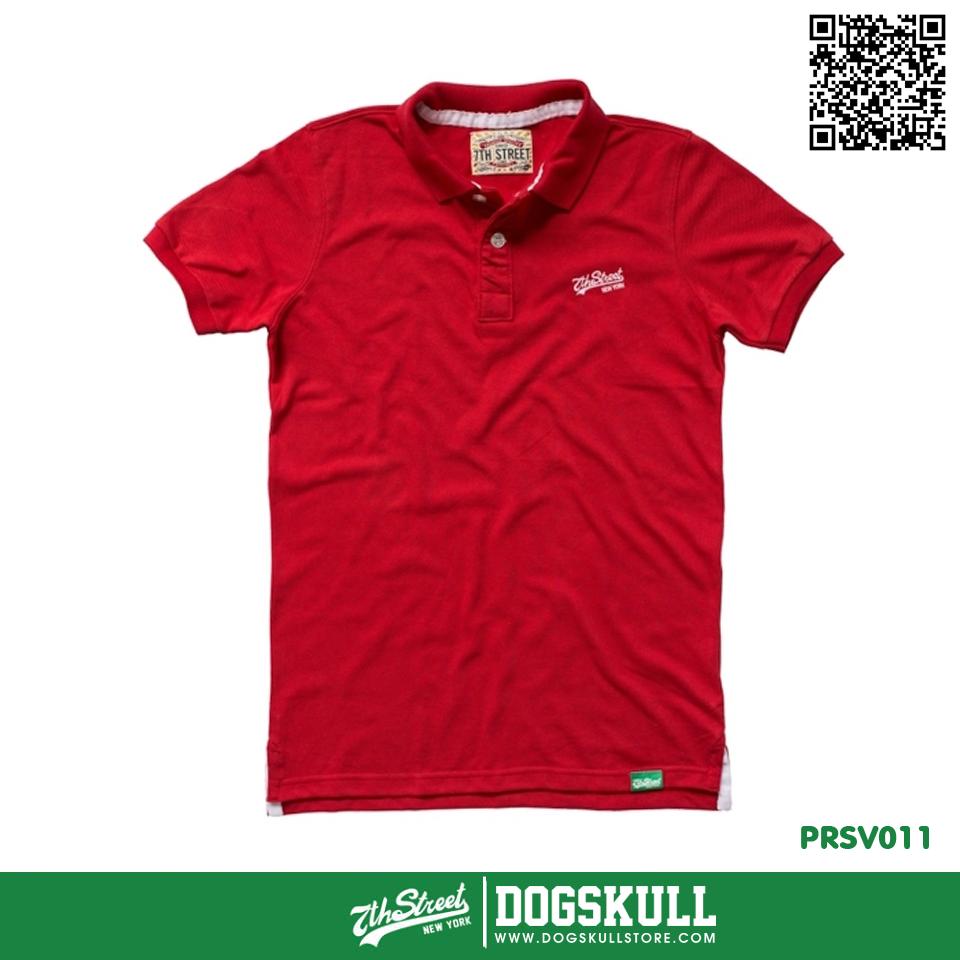 เสื้อโปโล - XL POLO Shirt รุ่น 7th Street | Red