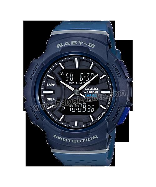 นาฬิกา Casio Baby-G for Running BGA-240 series Twotone Color Block รุ่น BGA-240-2A1 (Navy) ของแท้ รับประกัน1ปี
