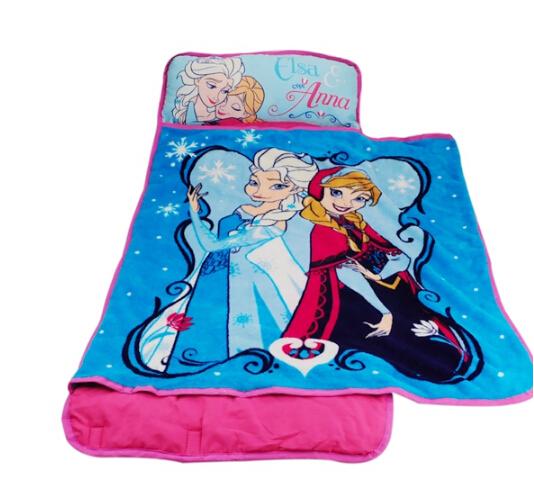 เบาะนอนพร้อมผ้าห่มเด็ก Frozen