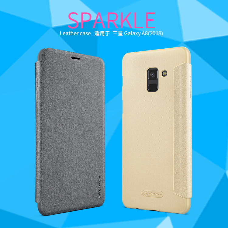 เคสฝาพับ NILLKIN Sparkle Leather Case Galaxy A8 2018
