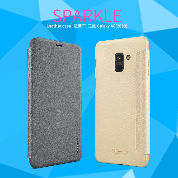 เคสฝาพับ NILLKIN Sparkle Leather Case Galaxy A8 2018