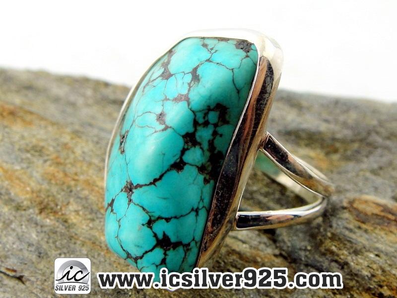 ▽เทอร์ควอยซ์ Turquoise แหวนเงินแท้ 925 (แหวนเบอร์ : 58)