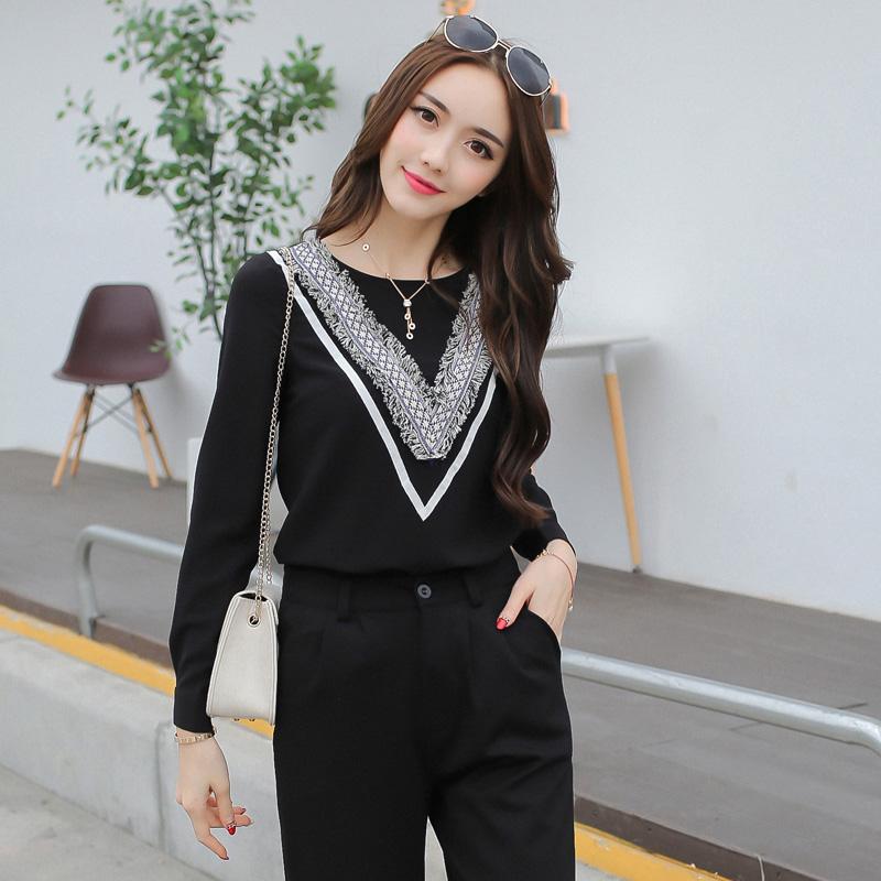 เสื้อทำงานสีดำ แขนยาว สวย น่ารักๆ