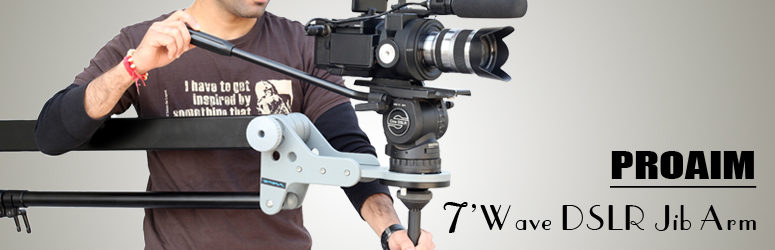 PROAIM 7' Wave DSLR Jib Arm Supporting Cameras weighing upto 10kg / 22lbs (P-WAVE)
