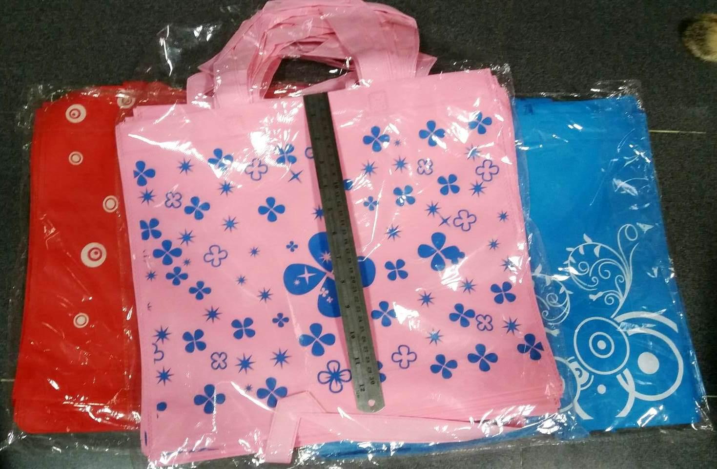 กระเป๋าผ้าสปันบอนด์ใบใหญ่140บาทต่อโหล