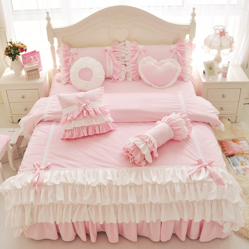 Pre-Order ผ้าปูที่นอนเจ้าหญิง มี 5 สี เลือกสีด้านในค่ะ
