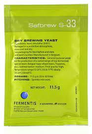 Safbrew S-33 (SPC) 11.5 g.(x36 packs)