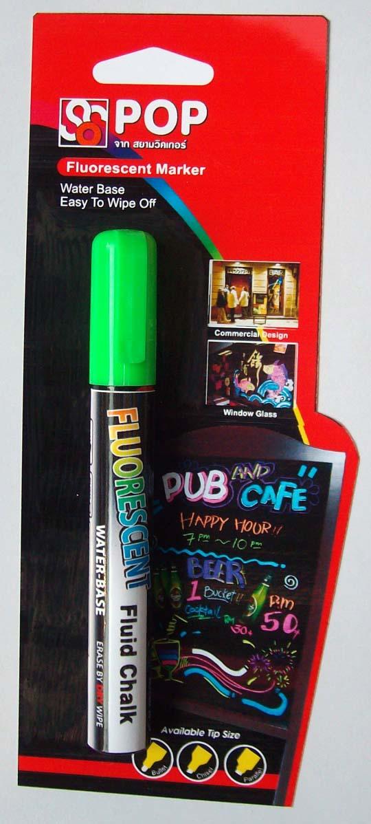 ปากกาชอล์ค เรืองแสง ขนาด 4.5 มม. สีเขียว